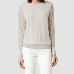 ALL SAINTS | Eder Top, Silk. Size 6